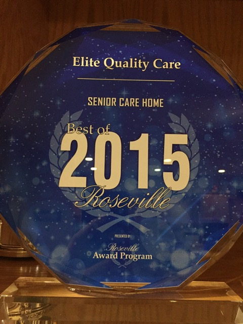 Best Senior Care Home of 2015 Roseville, CA