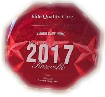 Best Senior Care Home of 2017 Roseville, CA